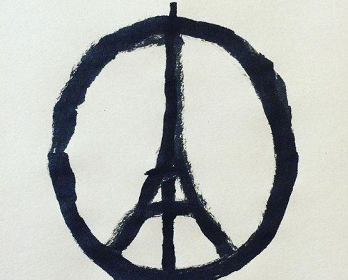 Repost @jean_jullien: Peace for Paris This illustration by @jean_jullien it all. My friends in Paris, I'm praying for you and please keep safe. #peaceforparis #peaceforall https://bit.ly/1NwfBwJ