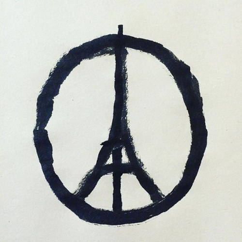 Repost @jean_jullien: Peace for Paris This illustration by @jean_jullien it all. My friends in Paris, I'm praying for you and please keep safe. #peaceforparis #peaceforall http://bit.ly/1NwfBwJ