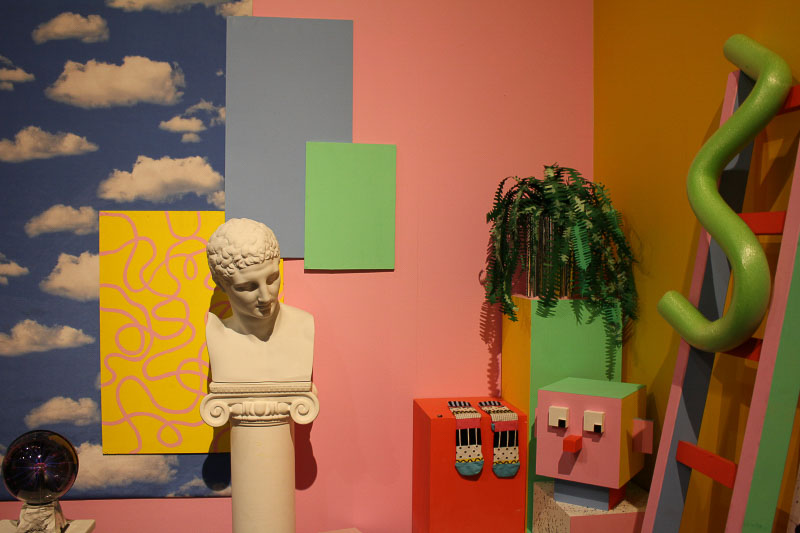Lazy Oaf's brightly coloured visual merchandising. http://www.lazyoaf.com/, photo taken by June Chanpoomidole.