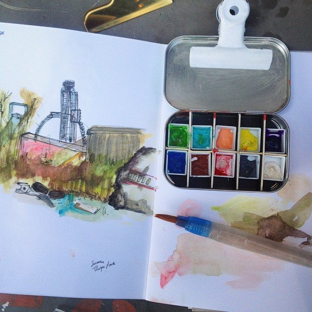 Beginner's Guide to painting and sketching outdoors. Destination: Thorpe Park!