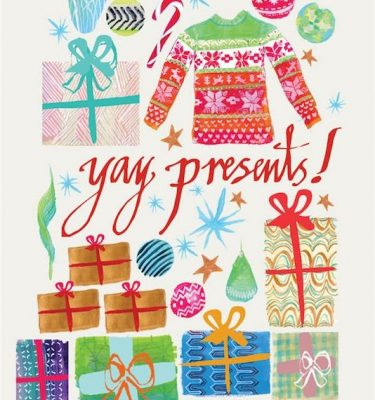 June_Sees_illustration_Web_WEB_Junesees-Yay-Presents-Greetings-Cards-design1-front 1