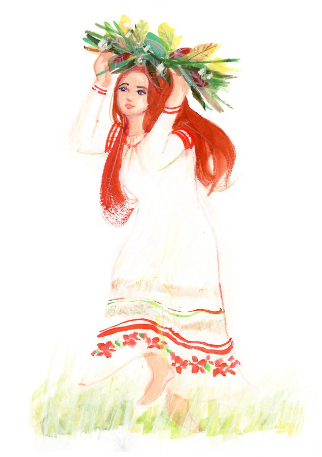 World Dance Illustration of Belarus dancer at Rusalle festival