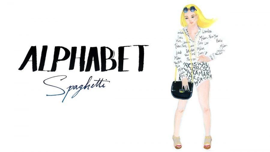 monogram shirt shorts June sees illustration for youtube video Fashion vlog, photo taken by June Chanpoomidole.