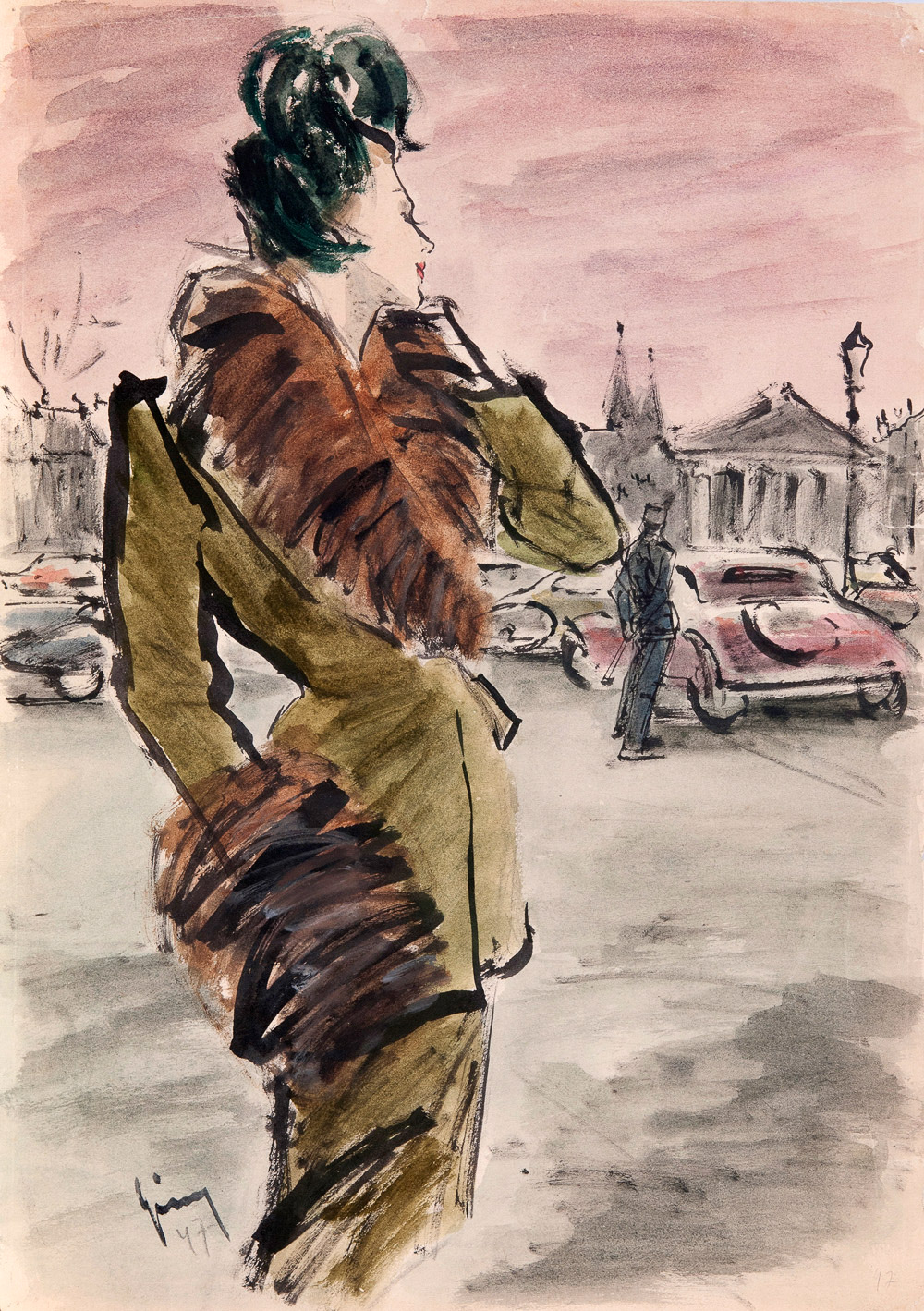 "London Exhibition presents,  ""Drawing on Style: Four Decades of Elegance"" Fashion Illustrations from 1940s-1970s"