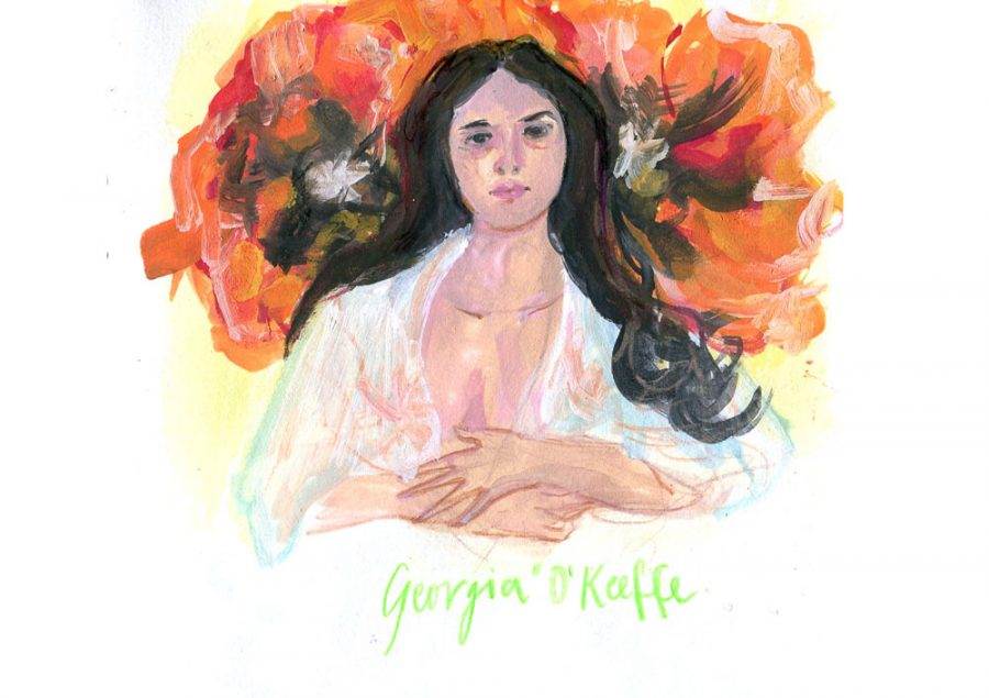 georgia-o'keeffe-portrait-by-june-sees-illustration_Georgia O Keeffe_September15_http---junesees.com.jpg